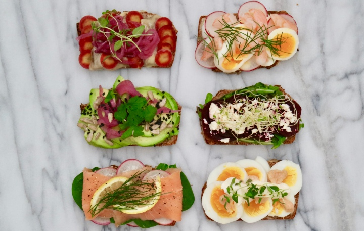 Danish open sandwich(Smørrebrød)