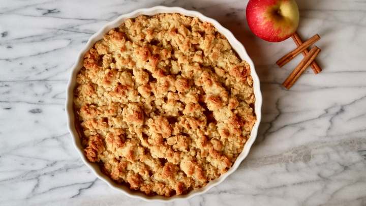 Apple crumble pie (gluten free)