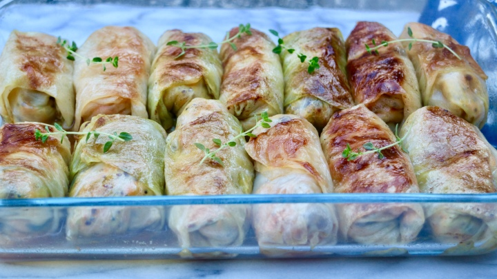 Vegetarian cabbage rolls(Kåldolmar)
