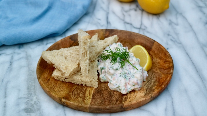 """Toast Skagen"" Shrimp salad"